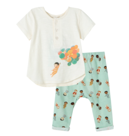 Peek The Wonderful Things You Will Be: Balloons Pant Set