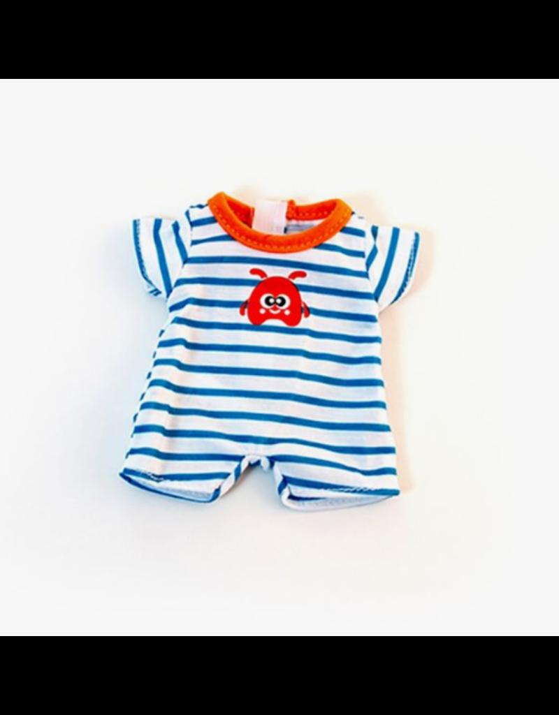 Miniland Newborn Doll Clothes: Striped PJ's