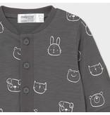 Mayoral Knit/Pocket Print Romper