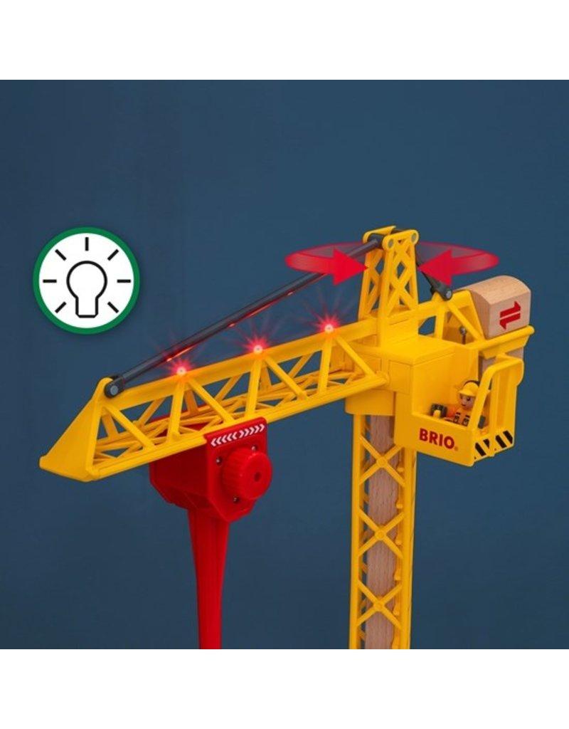 Brio Wooden Light Up Construction Crane
