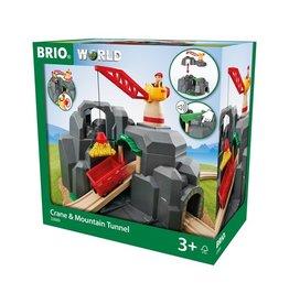 Brio Crane & Mountain Train Tunnel