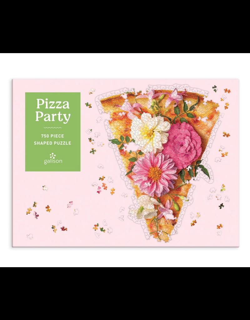Chronicle 750 Pcs: Shaped Pizza Party Puzzle