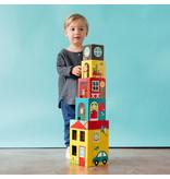Chronicle Peek-A-Boo House Stacking Blocks Play Set