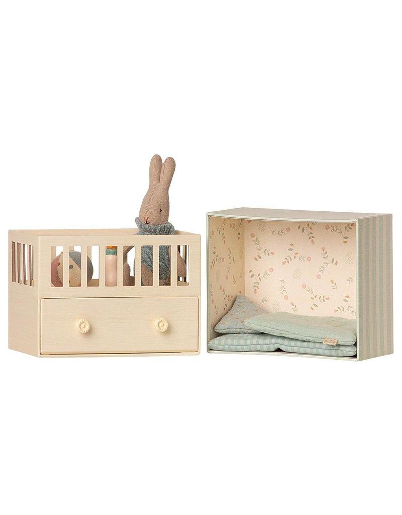 Maileg Baby Room w/Micro Rabbit