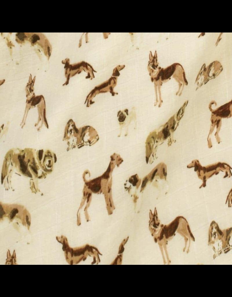 Milkbarn Organic Cotton Swaddle: Natural Dog