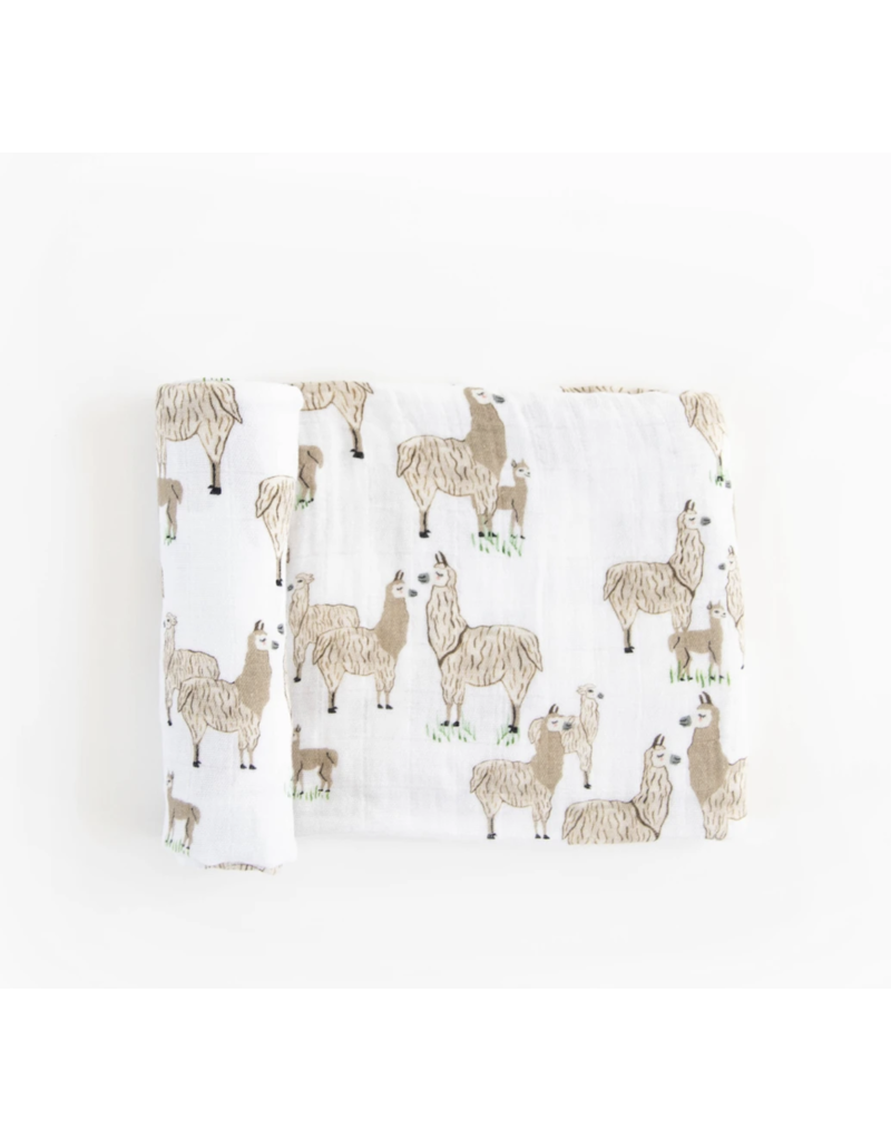 Little Unicorn Cotton Swaddle: Llama Llama
