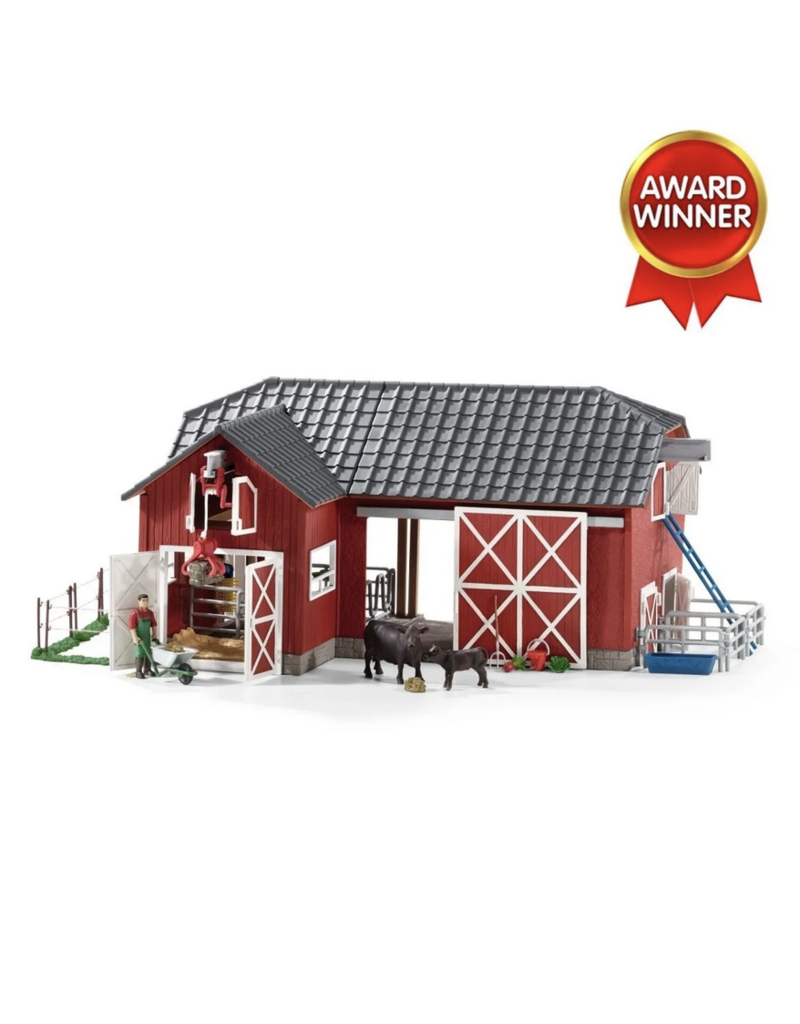 Schleich Large Red Barn with Animals & Accessories