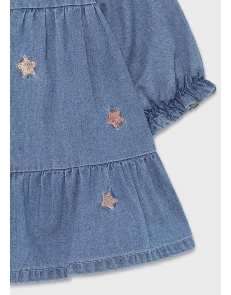 Mayoral Star Denim Dress