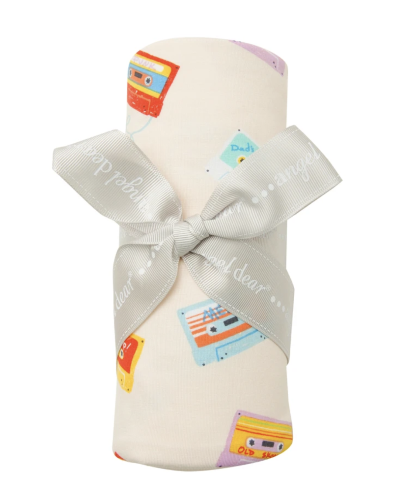 Angel Dear Mixed Tapes Swaddle Blanket