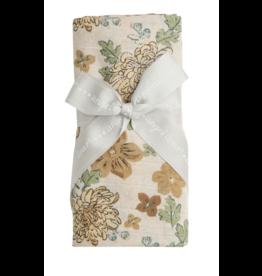 Angel Dear Chrysanthemum Swaddle Blanket Brown