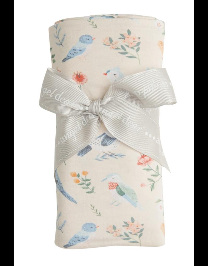 Angel Dear American Birds Swaddle Blanket Cream