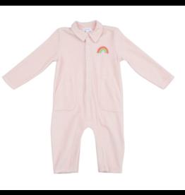 Angel Dear Pink Velour Jumpsuit