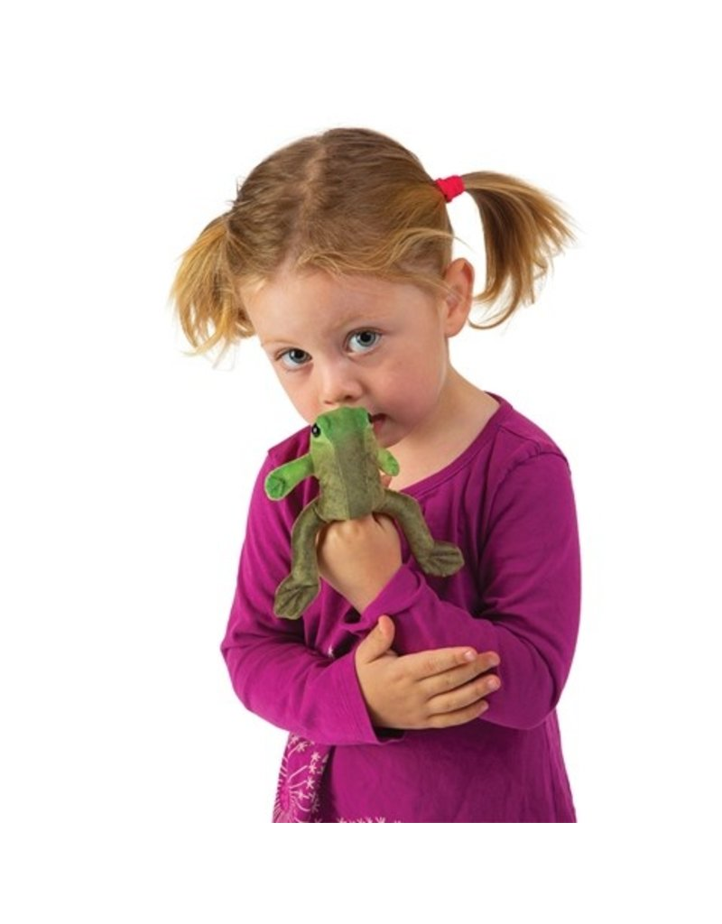 Folkmanis Finger Puppet: Mini Sitting Frog