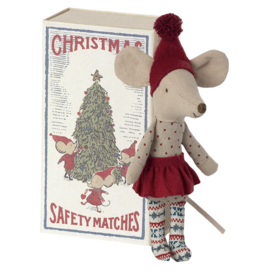 Maileg Christmas Mouse in Matchbox, Big Sister