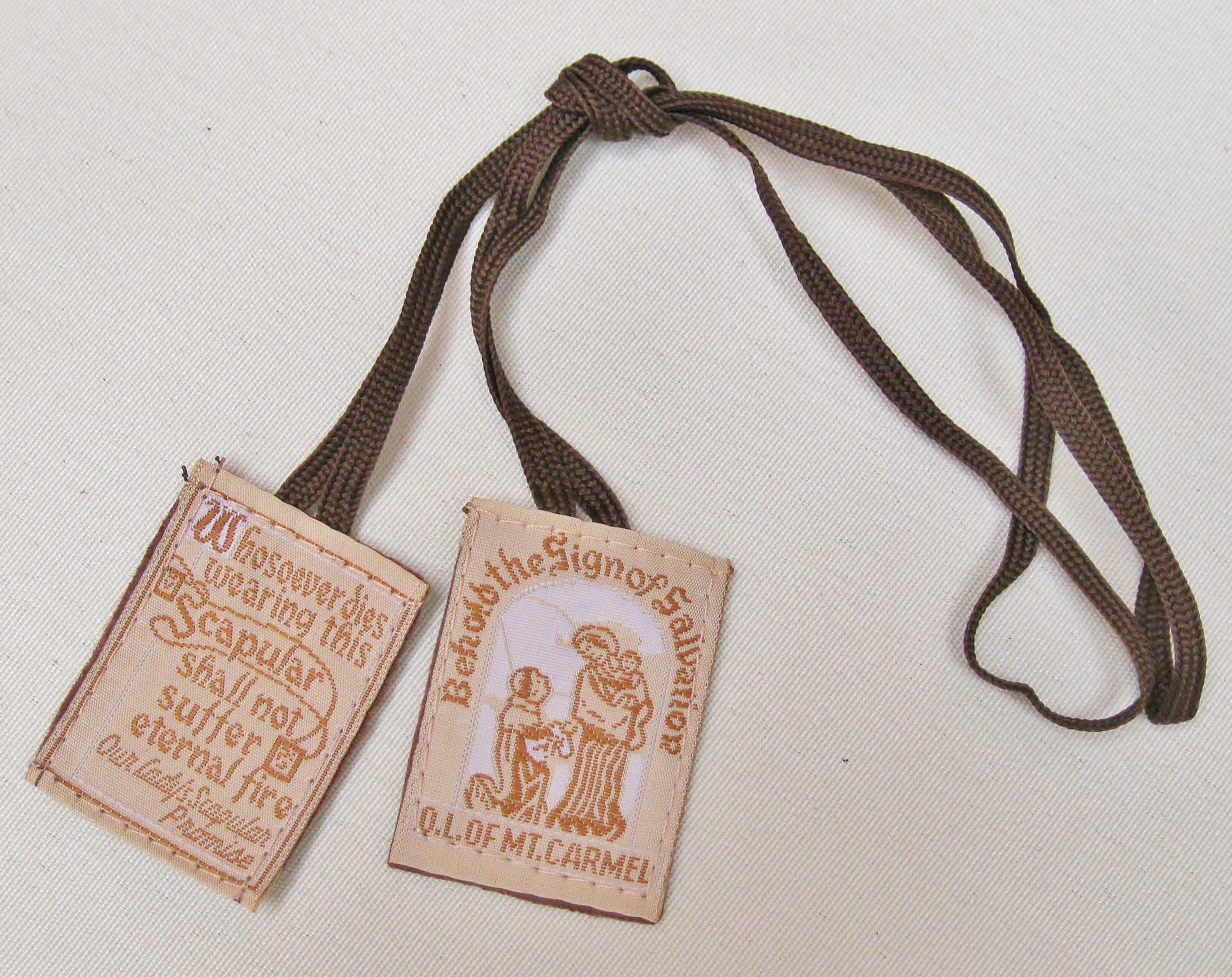 Cloth Scapular (Brown Cord) $2.95