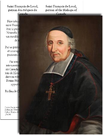 St. François de Laval Bilingual Prayer Card