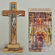 Olive Wood Crucifix on Base w/ Pewter Corpus