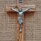 "Olive Wood Crucifix w/ Pewter Corpus - 5"""