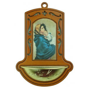 Madonna of the Streets Holy Water Font (Brown)