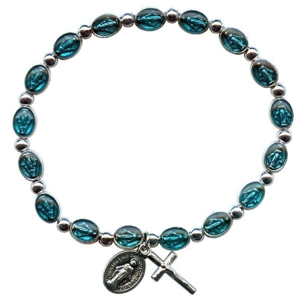Enamelled Miraculous Medal Bracelet