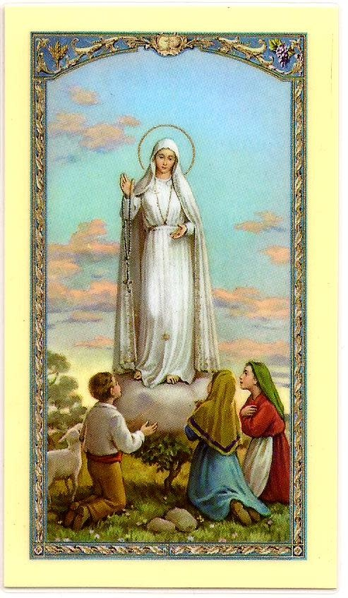 Prayer to Our Lady of Fatima Prayer Card