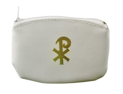 Rosary Case Small White