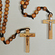 Olive Wood Rope Rosary