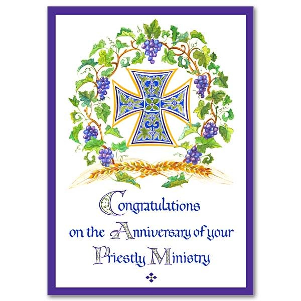 Congratulations on the Anniversary of Your Priestly Ministry