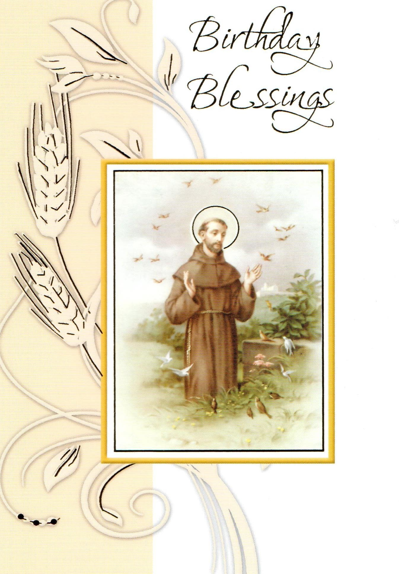 Birthday Blessings - St. Francis