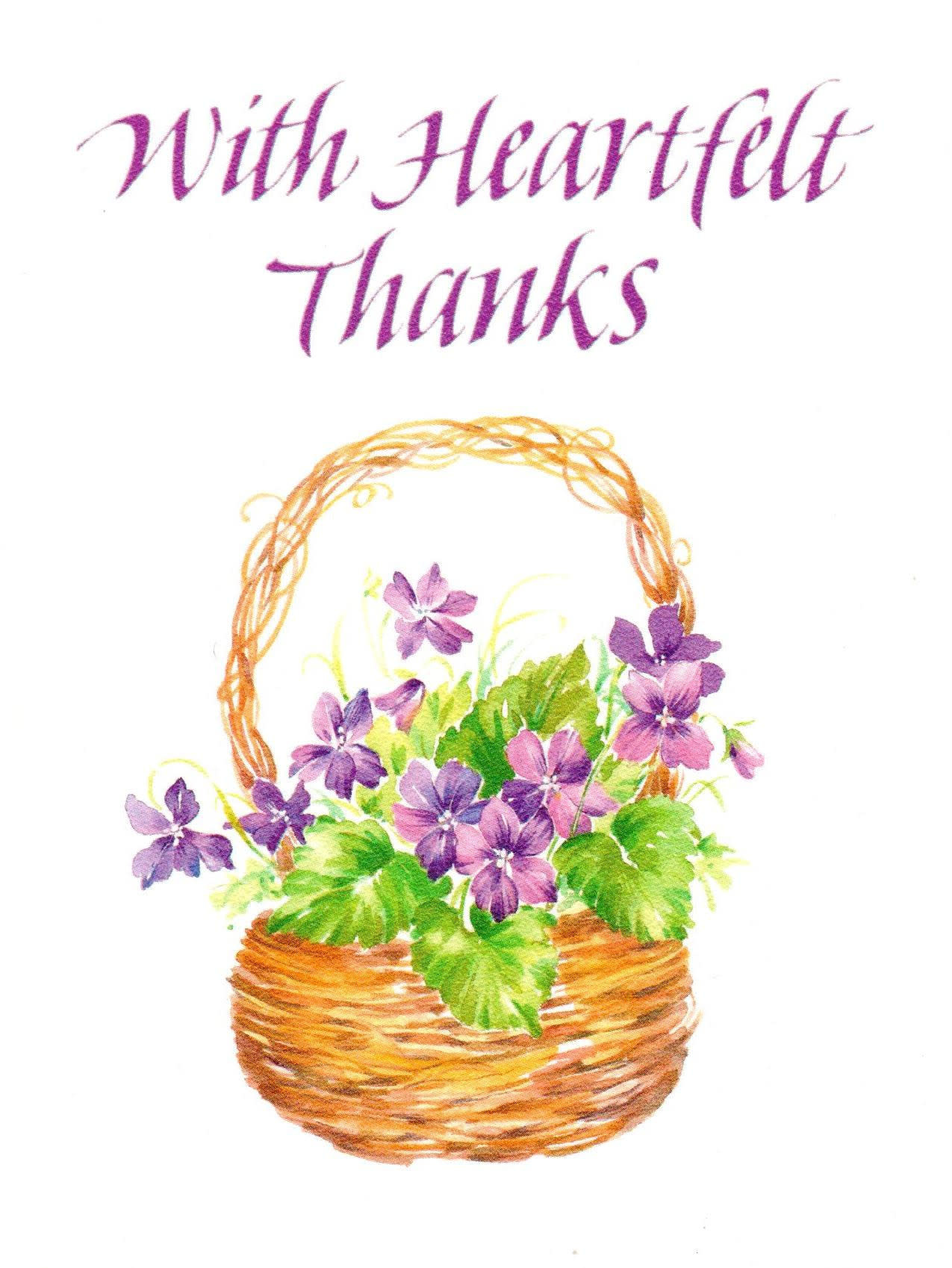 With Heartfelt Thanks