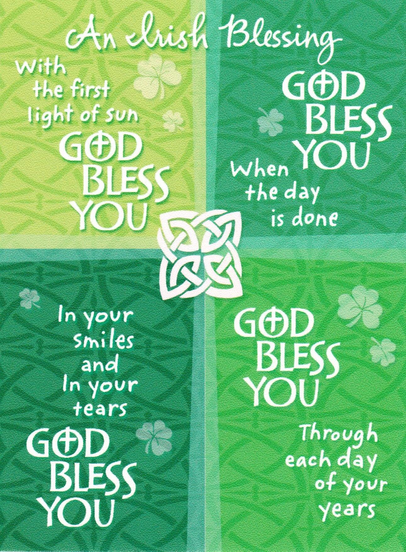An Irish Blessing - God Bless You (Green)