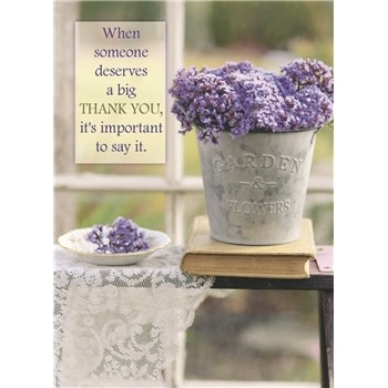 Thank You - Lilacs in Pail