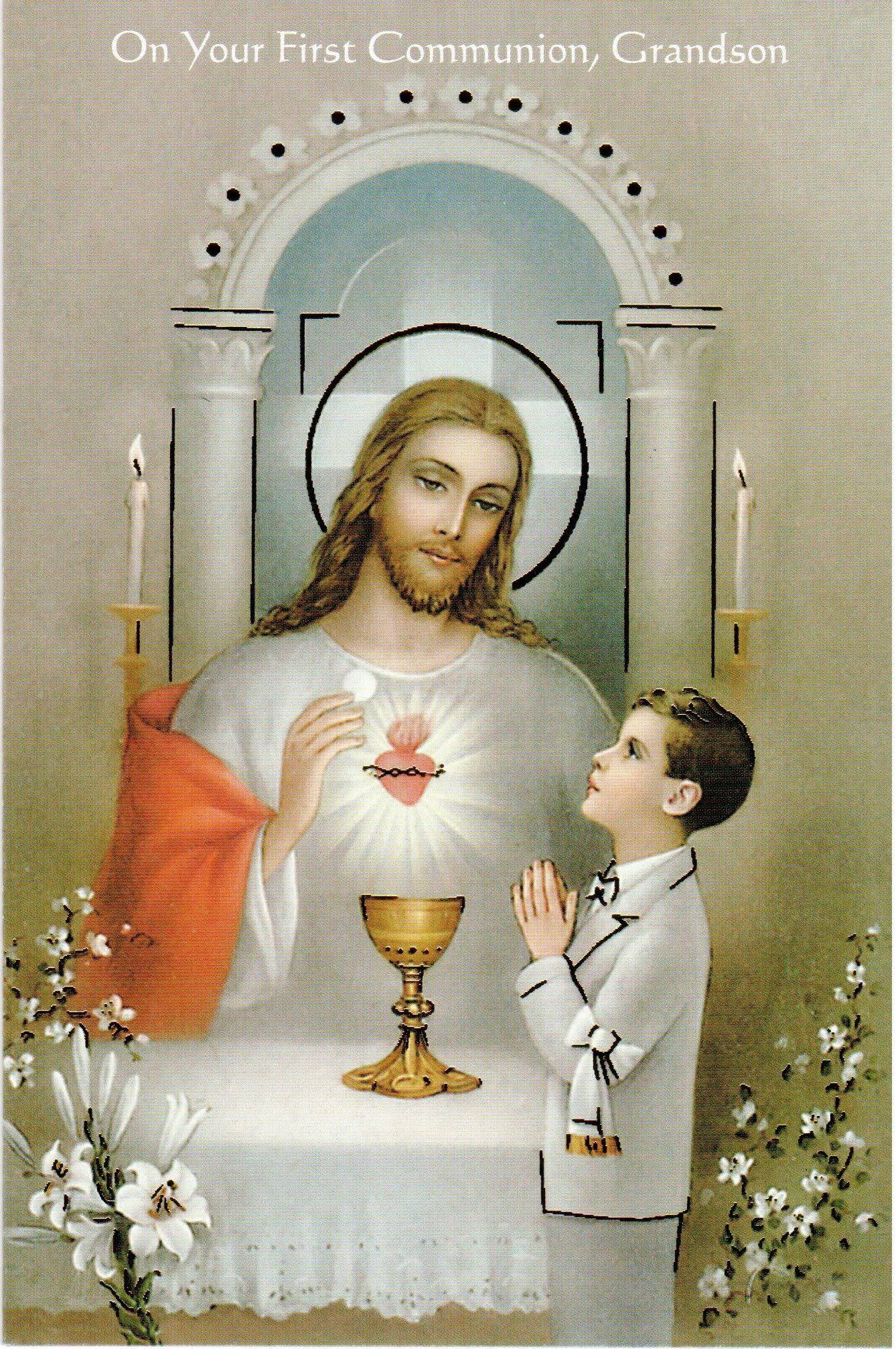 On Your First Communion Grandson
