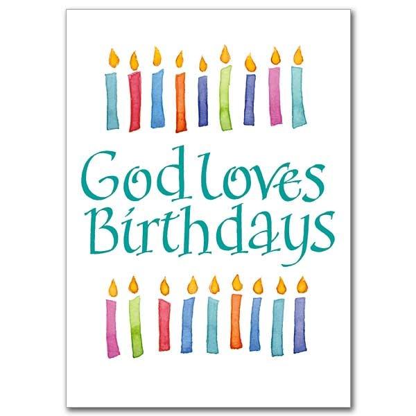 God Loves Birthdays - Candles