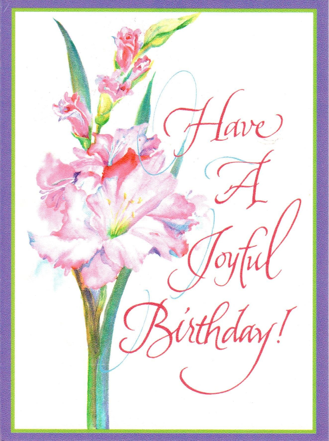 Have a Joyful Birthday!