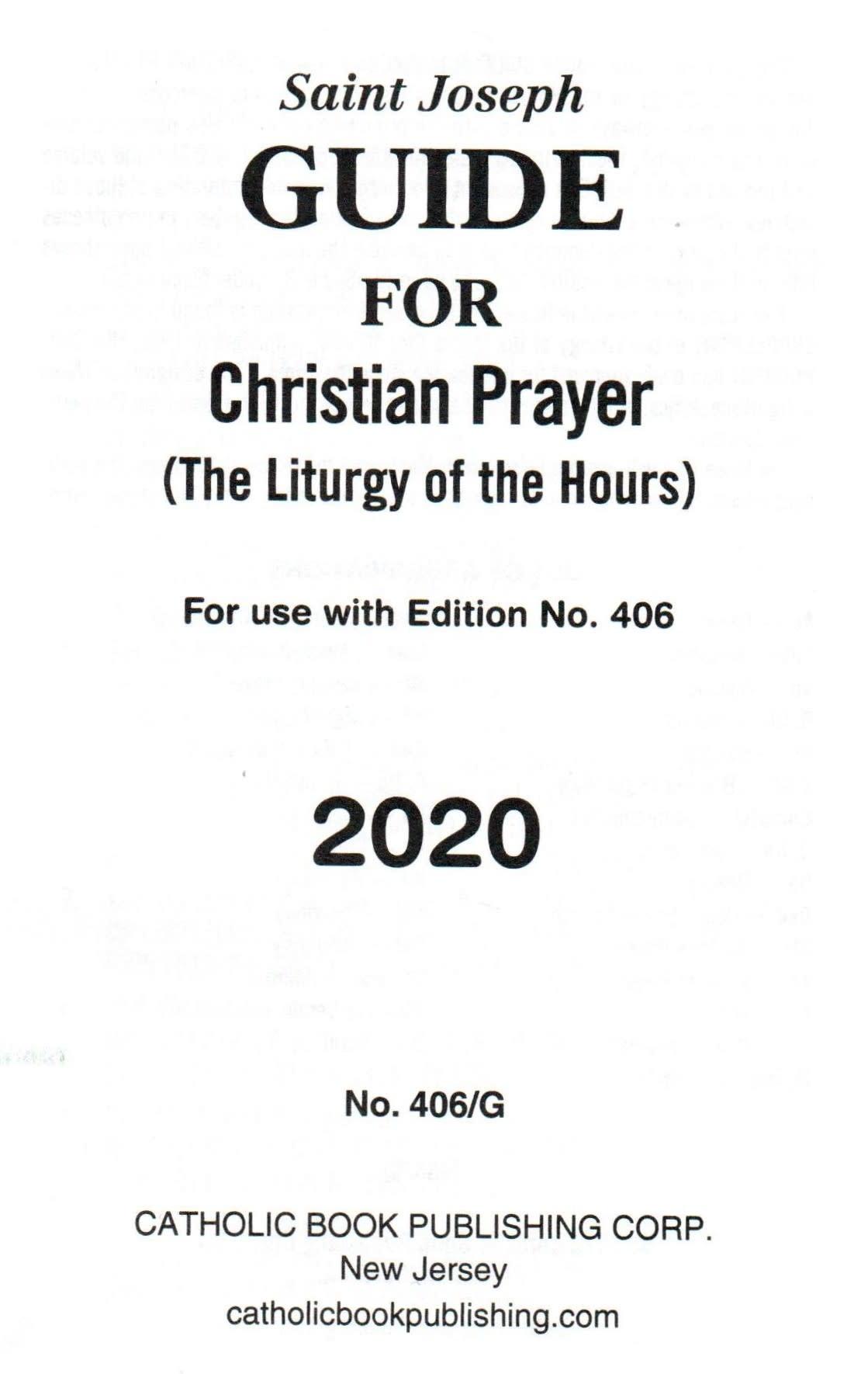 Saint Joseph Guide for Christian Prayer Large Print - 2020