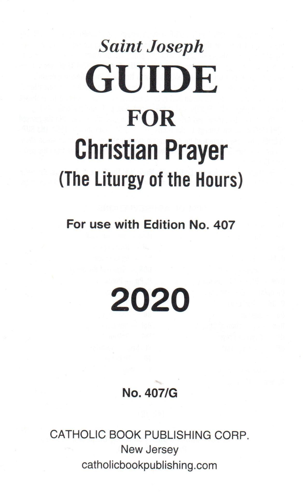 Saint Joseph Guide for Christian Prayer - 2020
