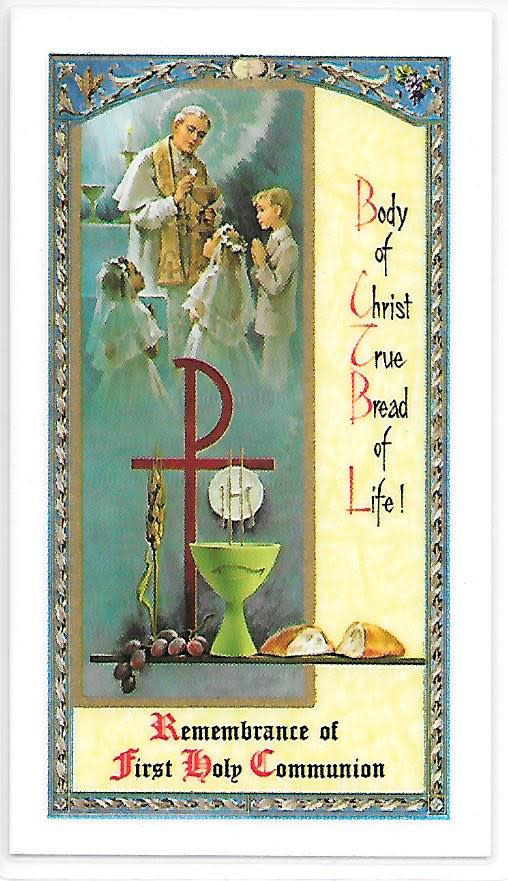 My First Communion Prayercard