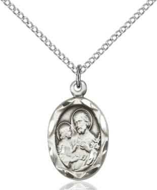 """SS St. Joseph Medal / 24"""" Curb Chain"""