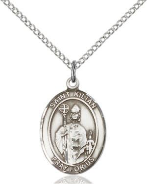 """SS St. Kilian Oval Medal / 24"""" Curb Chain"""