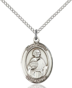 "SS St. Philip the Apostle Oval Medal / 24"" Endless Curb Chain"
