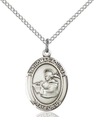 "SS St. Thomas Aquinas Oval Medal / 24"" Curb Chain"