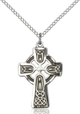 "SS Celtic Cross SM / 24"" Curb Chain"
