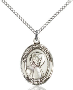 """SS St. Edmund Campion Oval Medal / 24"""" Curb Chain"""