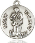 "SS Venerable Matt Talbot Round Medal / 24"" Curb Chain"