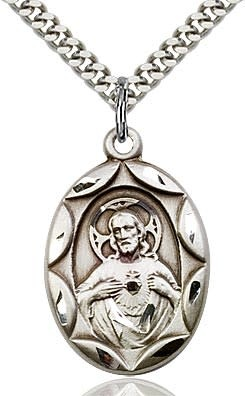"""SS Scapular Medal / 24"""" Curb Chain"""