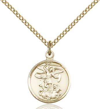 """GF St. Michael Medal / 18"""" Curb Chain"""