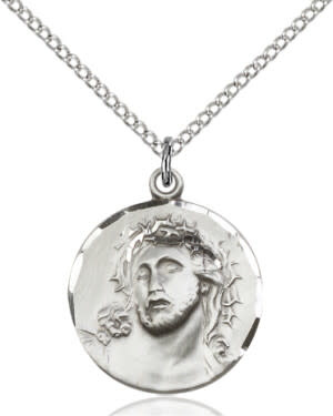 """SS Ecce Homo Medal / SS 18"""" Curb Chain"""