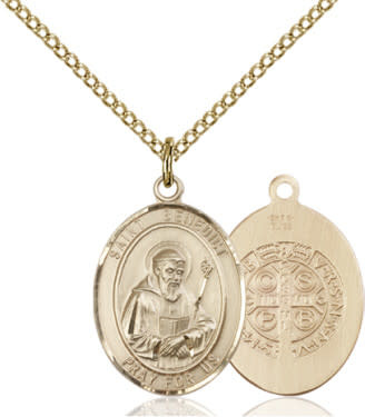 "GF St. Benedict Medal / 18"" Curb Chain"