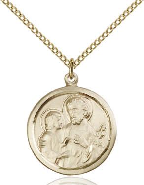 """GF St. Joseph Medal / 18"""" Curb Chain"""